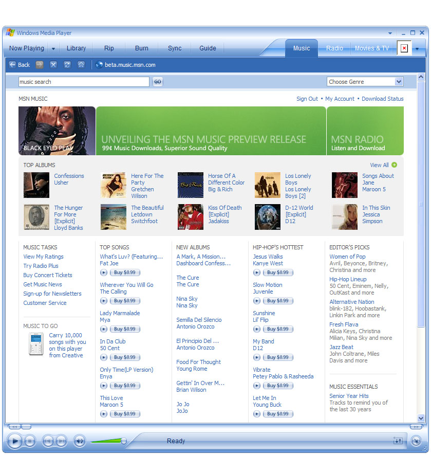microsoft relaunching msn music download store in uk