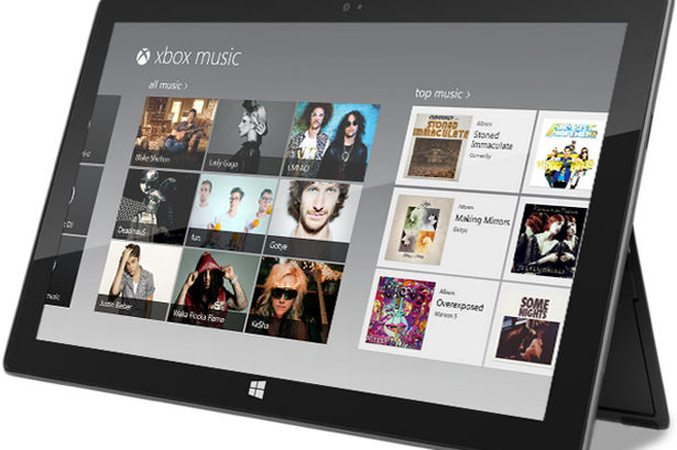 windows xbox music application for windows 8