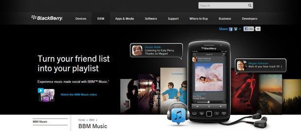 blackberry music streaming service bbm music