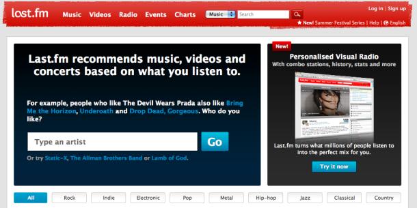lastfm music streaming listening service tunes stream uk