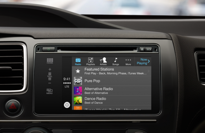 apple carplay music streaming in car automation service