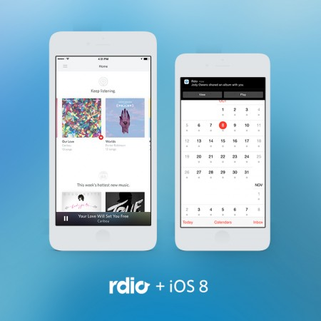 Rdio iOS 8