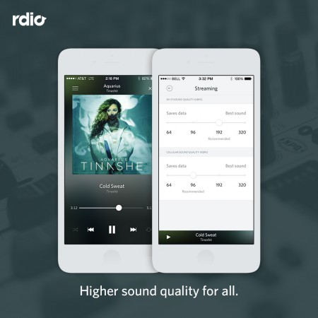 Rdio High Quality