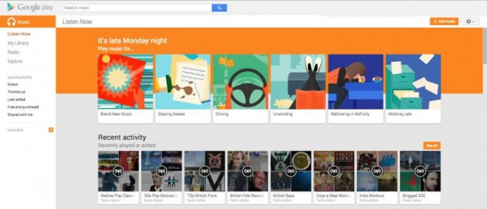 songza google play music streaming service playlists