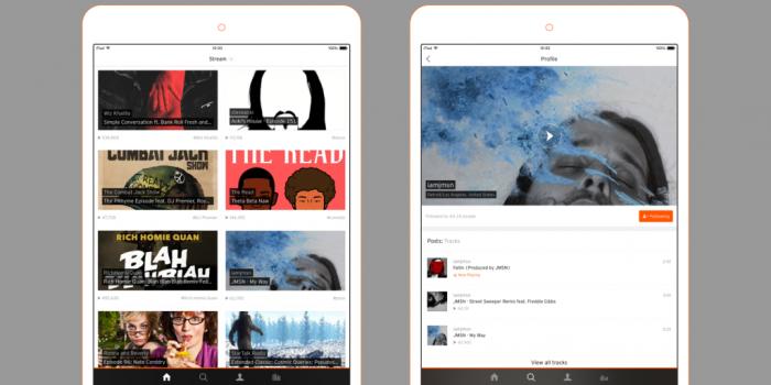 SoundCloud iPad Design 2