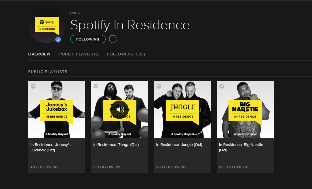 Spotify Launch Original Radio Shows: In Residence