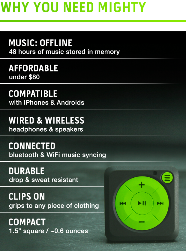Mighty Spotify portable