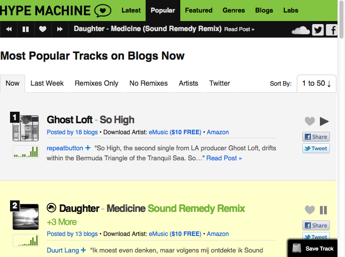 Any easy way to download music from hype machine?