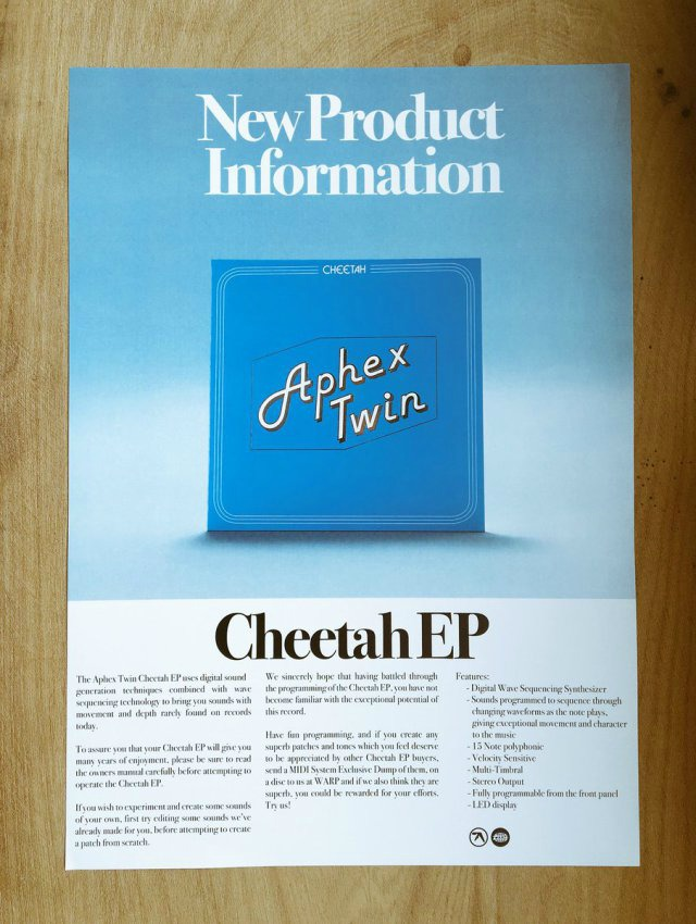 Aphex Twin synth music cd release
