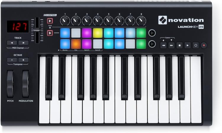 Novation MIDI controller keyboard DAW music