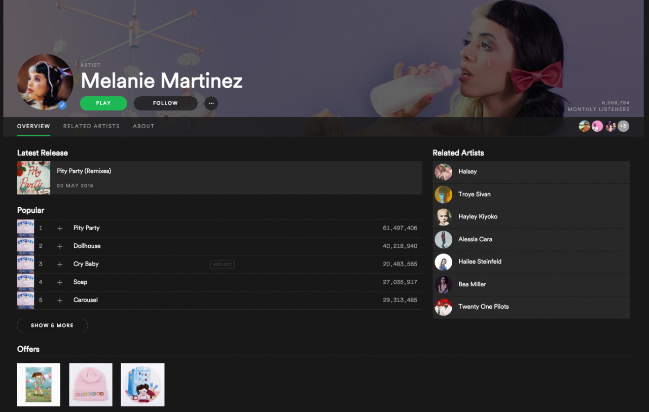 How to get Spotify to play through all of an artist's songs, rather