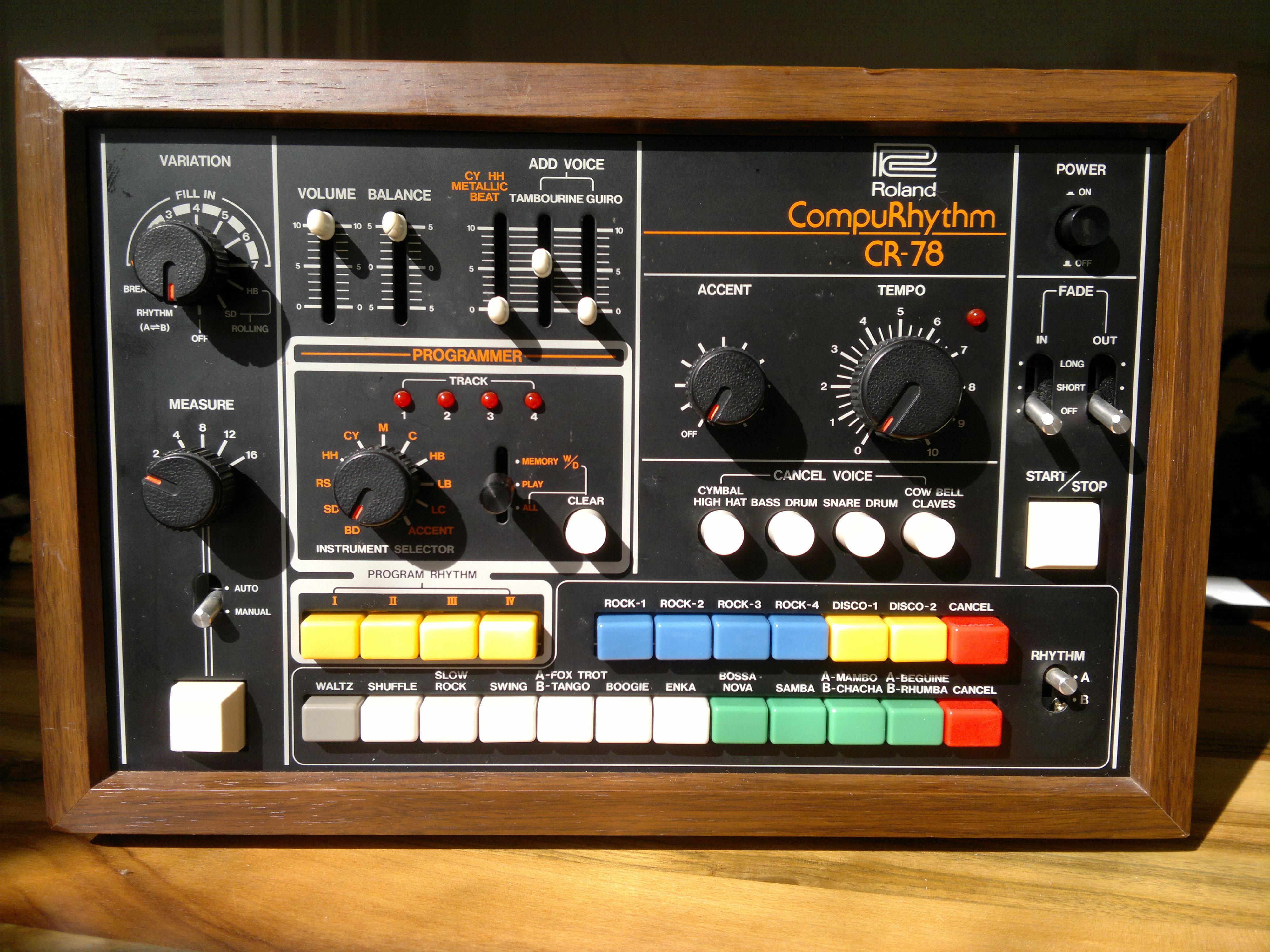 classic drum machine Roland