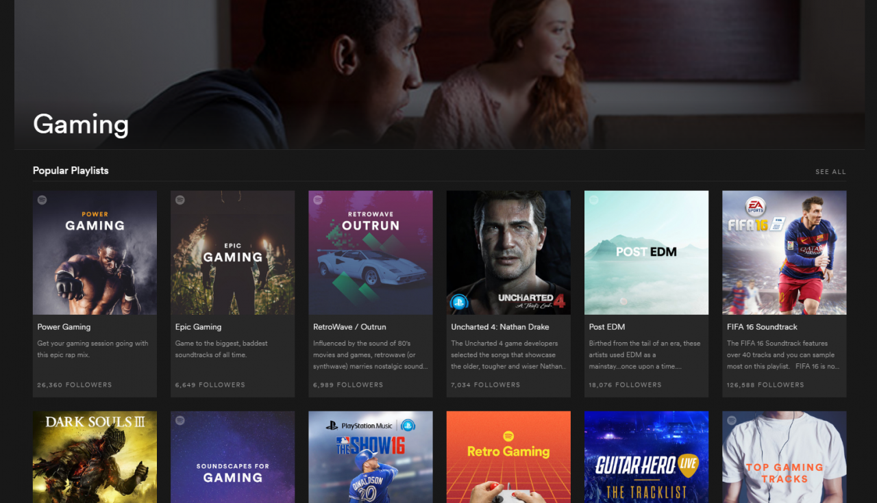 Spotify just launched a place for gaming on their music