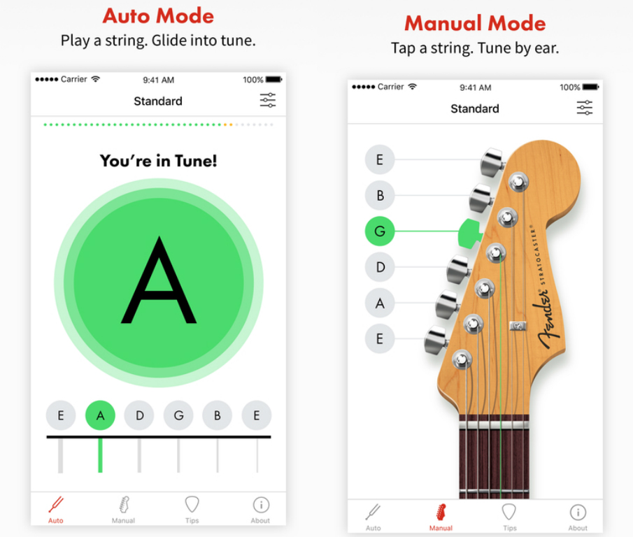 fender guitars launch their very first mobile app fender tune routenote blog. Black Bedroom Furniture Sets. Home Design Ideas