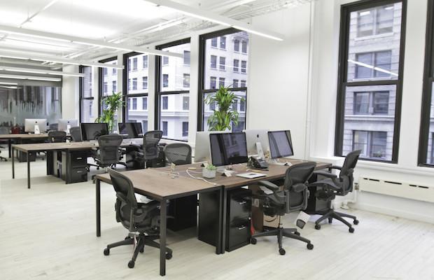 new york office soundcloud main work space desks office