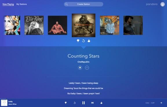 Pandora update new look fresh