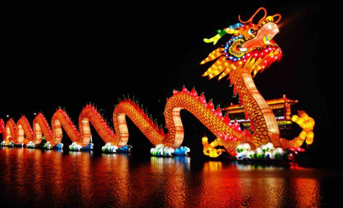 Apple Beats headphones New Year celebrations China Chinese dragon lantern