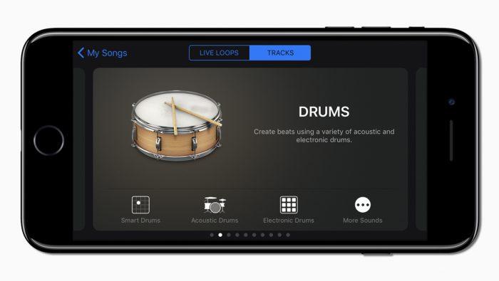 GarageBand Apple Logic Pro X music software recording creation editing