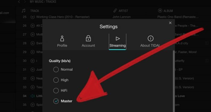 Tidal MQA music streaming hifi definition quality