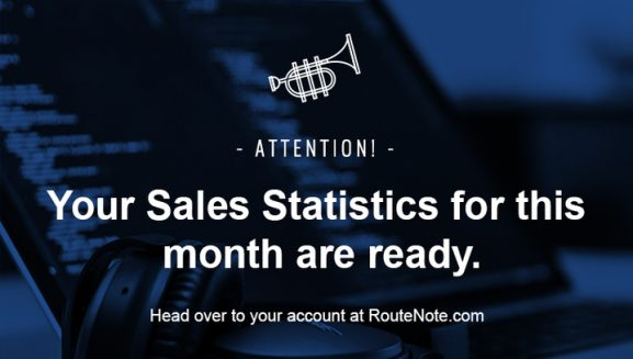 RouteNote digital music distribution statistics and earnings