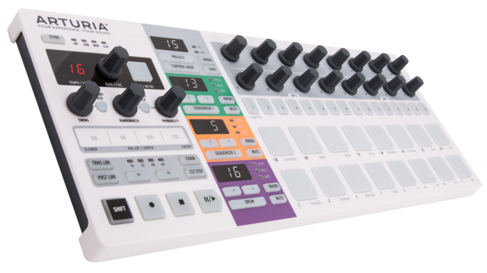 Arturia Beatstep Pro sequencer controller MIDI music equipment drum machine DAW production