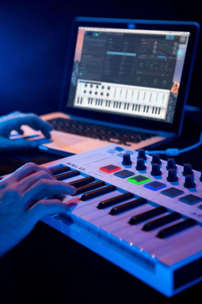 Arturia minilab midi controller keyboard music production creation review