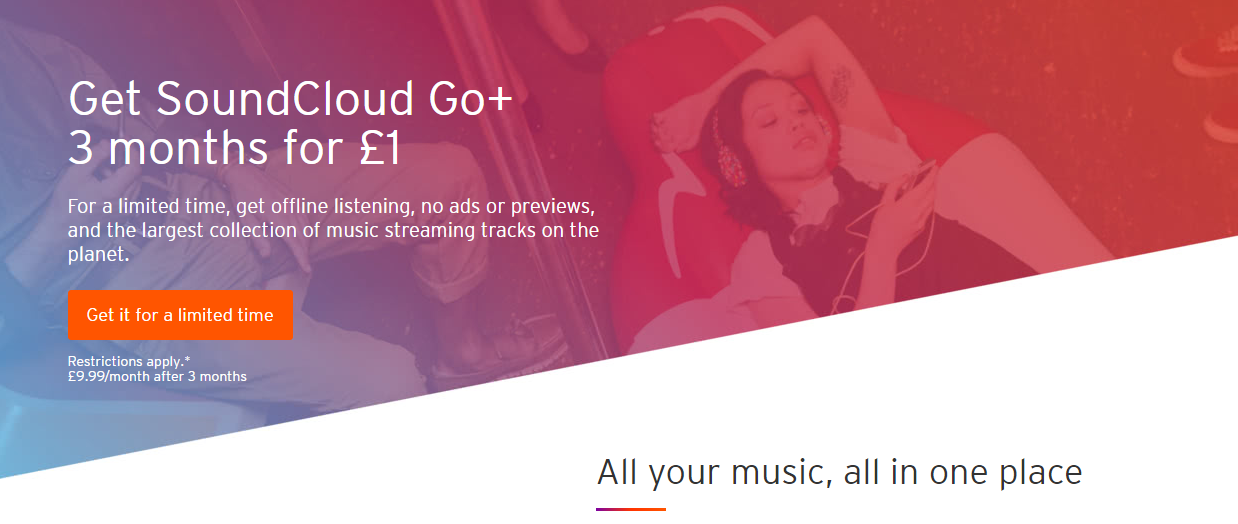 Get 3 months of ad-free, offline music with SoundCloud Go+ for just
