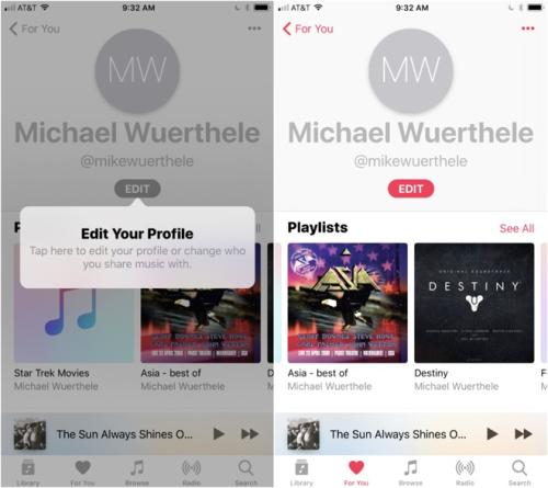 Apple Music iOS 11 Beta playlist sharing features