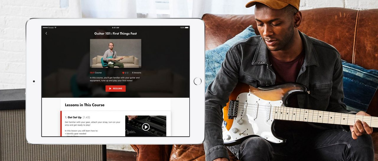fender play comes to android and ipad to teach guitar routenote blog. Black Bedroom Furniture Sets. Home Design Ideas