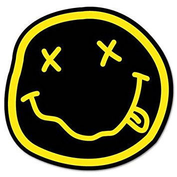Nirvana smiley logo face bands marketing