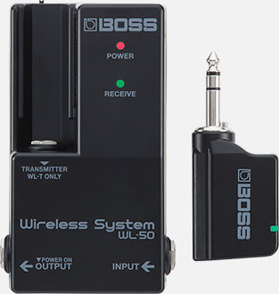 Boss wireless receivers pedal board connect music instruments