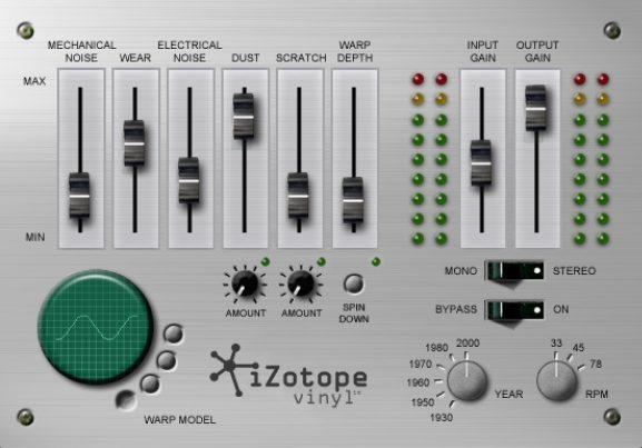 plugin free music production izotope vinyl