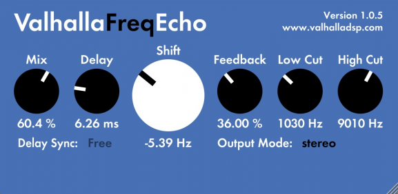 valhalla frequency echo freq plugin free music production