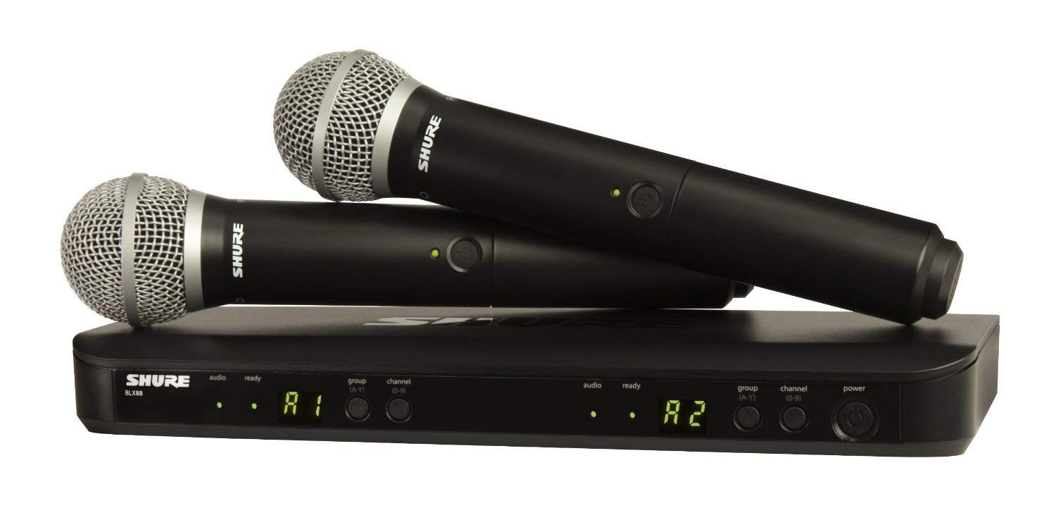 Shure Dual channel wireless system microphones receiver black friday cyber monday deals