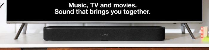 Sonos Beam soundbar streaming tv sound bar smart speakers black friday deals sale