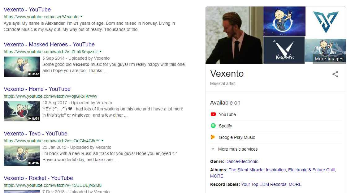 How to get an artist Google Panel when people search your name