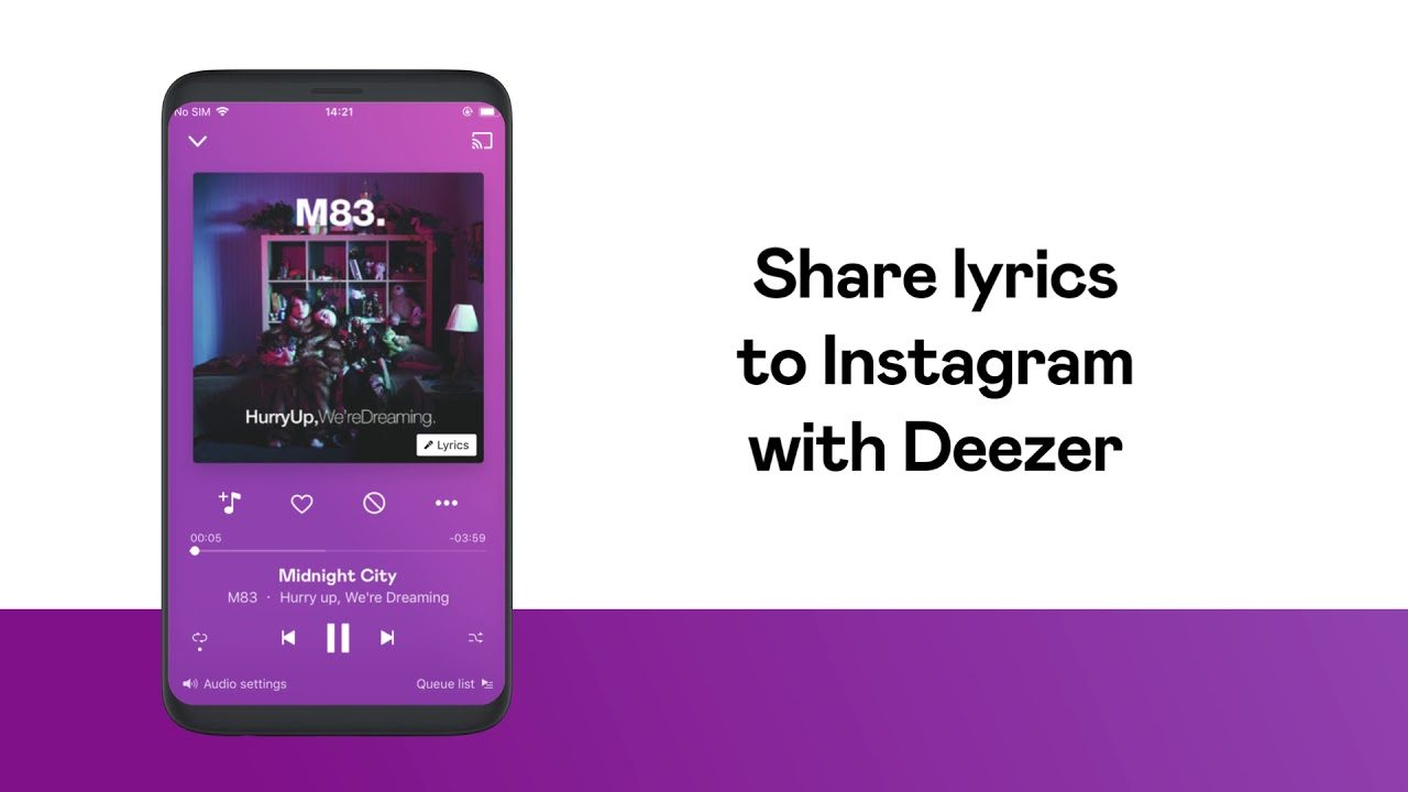 Share the lyrics that mean the most on Instagram from Deezer