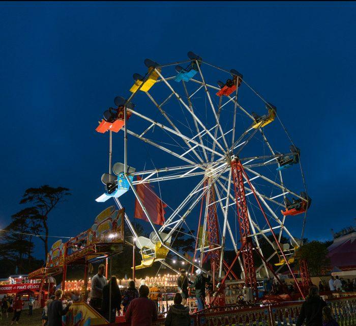 Great Estate festival  playground kids childrens fairground ferris wheel cornish music cornwall festival
