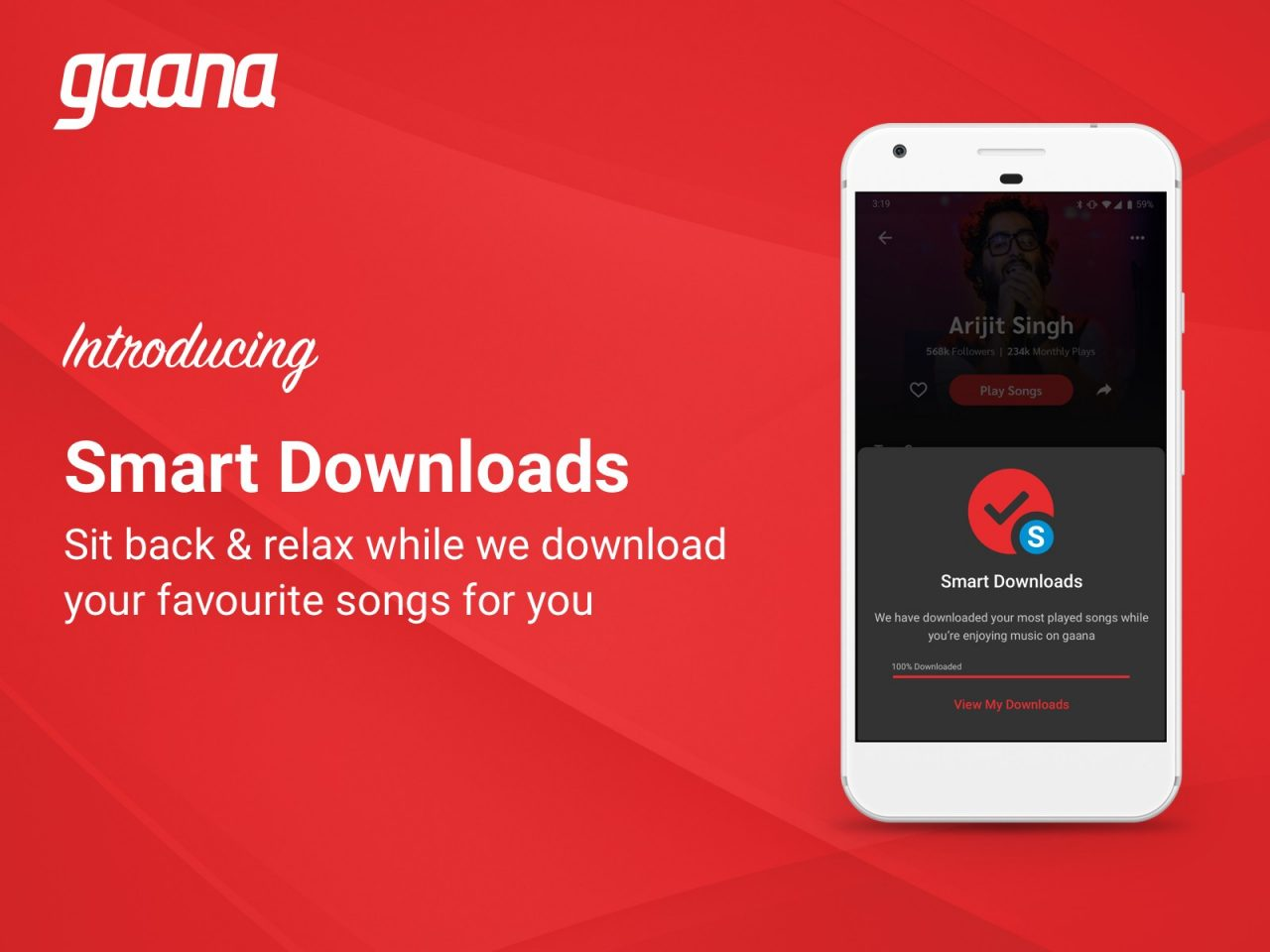 Gaana adds feature to download the songs you love for you