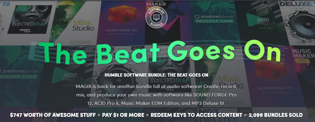 Humble Bundle offers $747 of music software for as little as