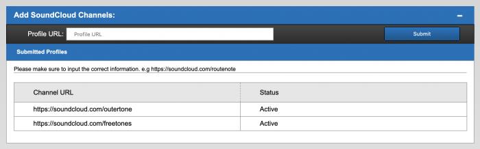 Enabling your SoundCloud profile