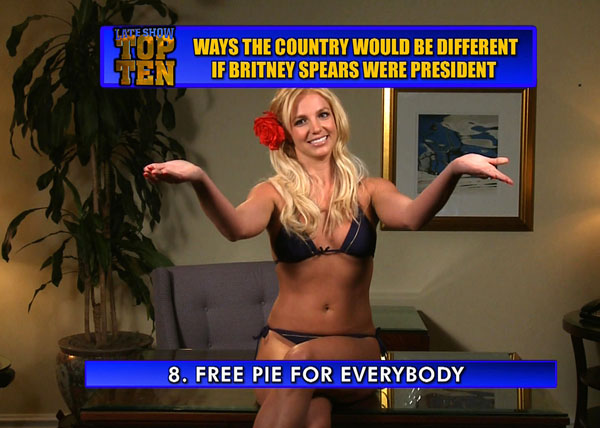 Late Show Brittney Spears