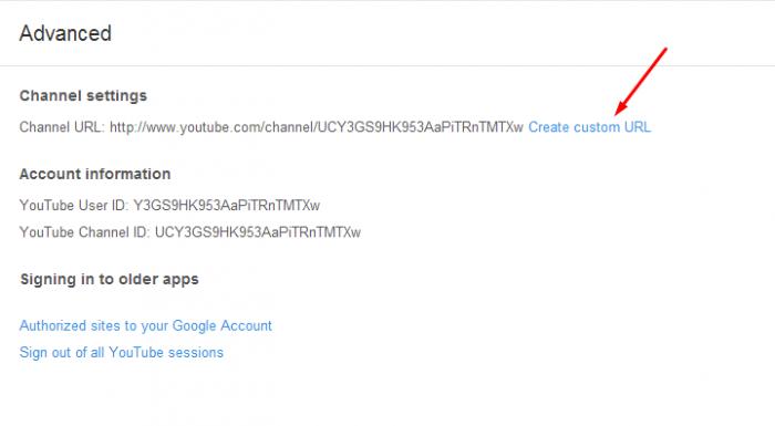 custom_URL youtube channel url change