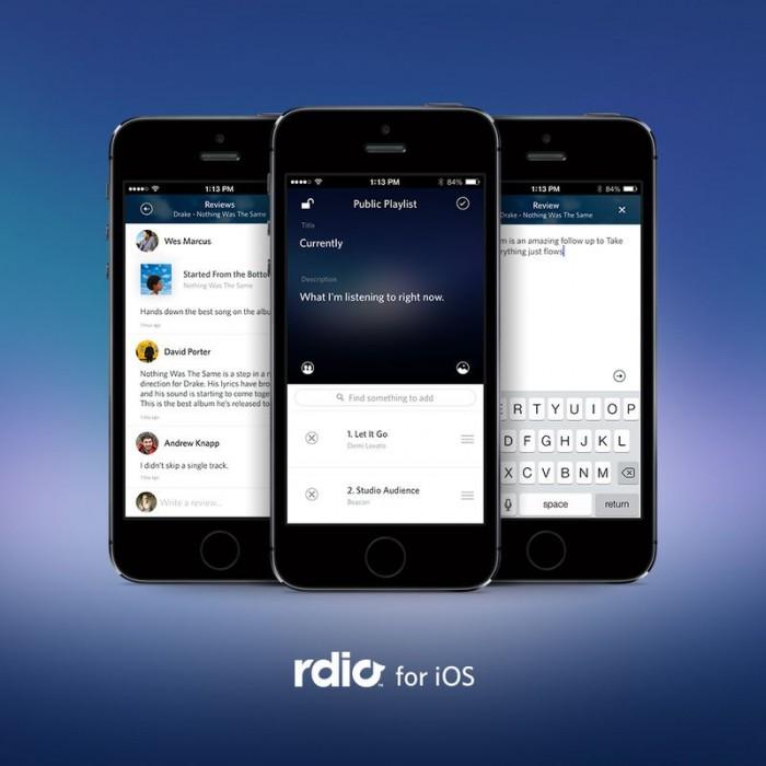 rdio music streaming ios application itunes app store listen free