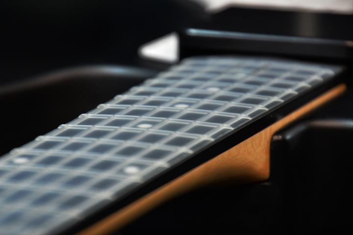 black fretboard