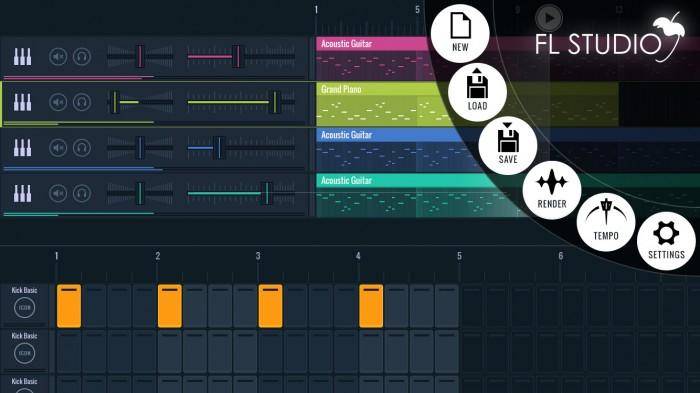 FL Studio Mobile 3's gorgeous design