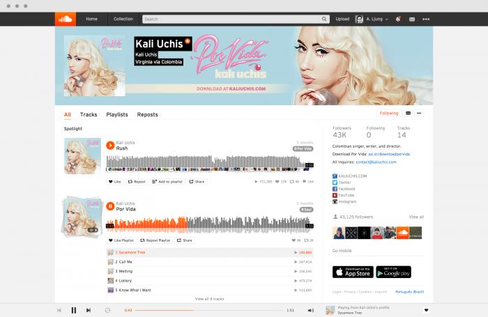 soundcloud new profile