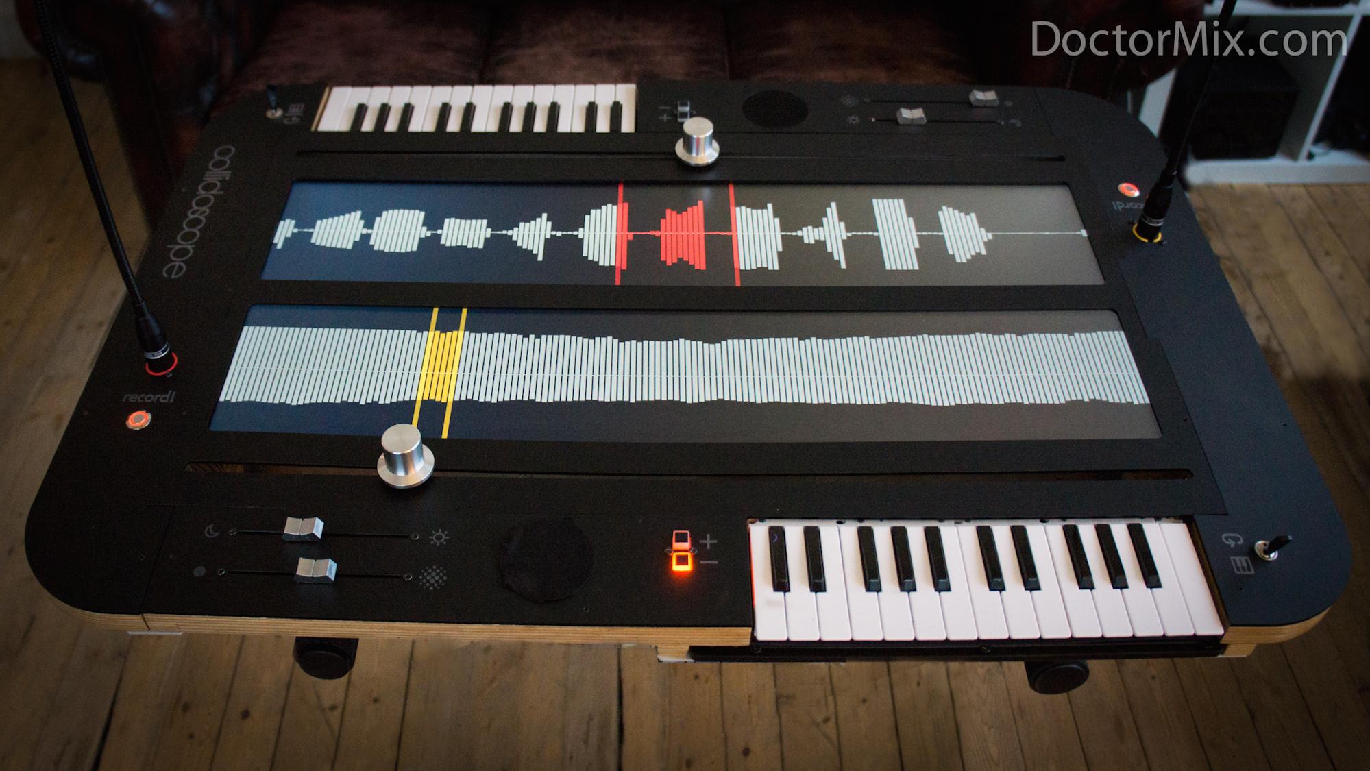 Collidoscope hybrid keyboard synth sampler