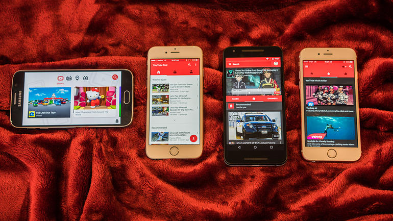 YouTube's four apps