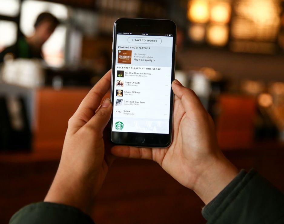 Starbucks app Spotify